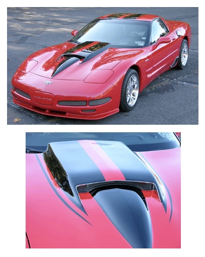 Motor City Hi Performance 427 Stinger Hood Fiberglass